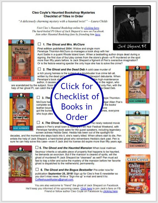 Haunted Bookshop Mysteries | CoffeeHouseMystery com