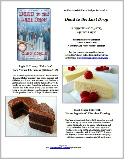 About the coffeehouse mystery books coffeehousemystery than 25 new cleo recipes forumfinder Choice Image